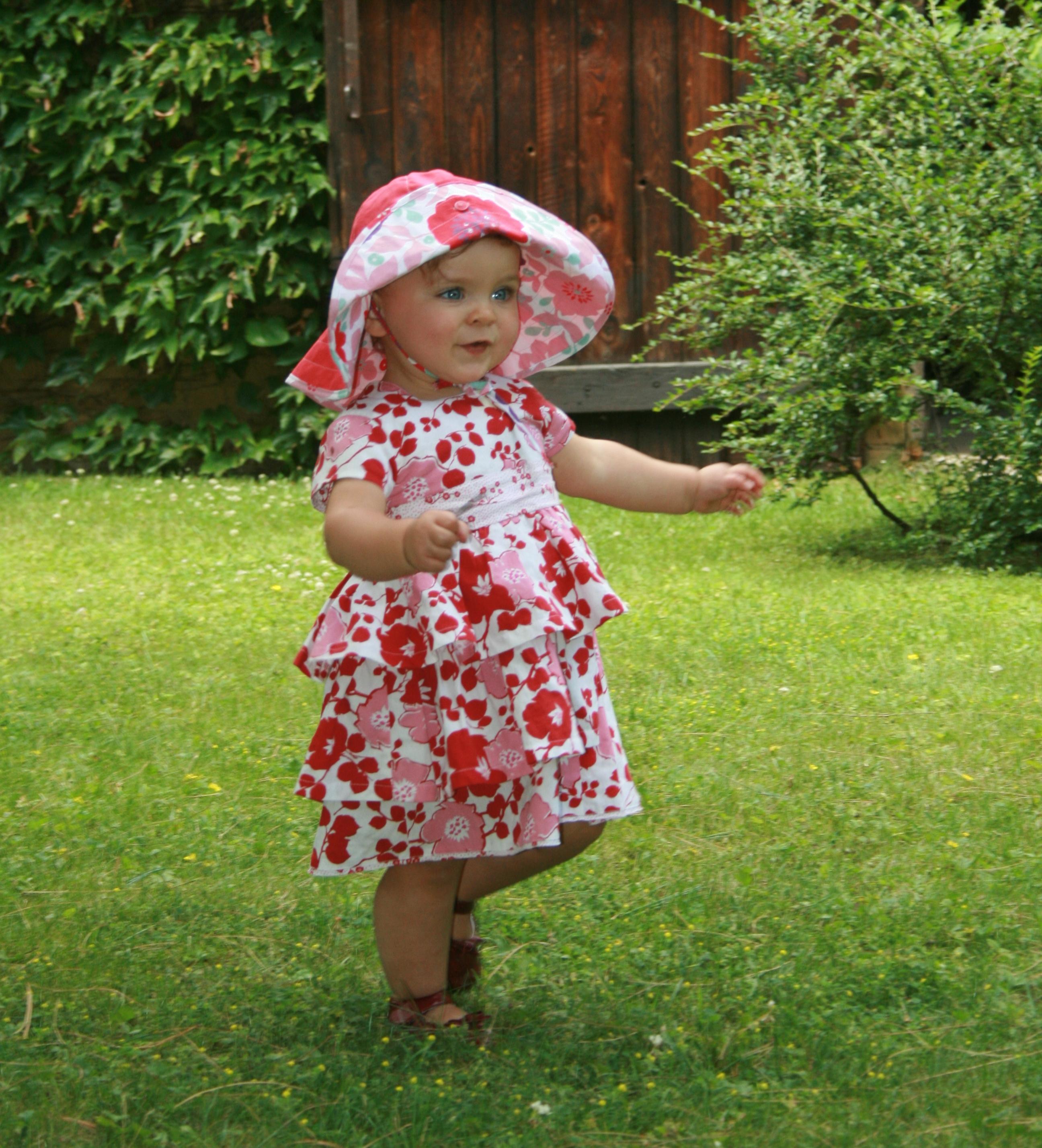 Robe A Volants Fleurs Rouge Kenzo 18 Mois Shopping
